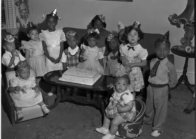 Children at birthday party, Seattle, circa 1953