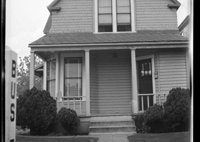Exterior of Smith family home, Seattle, circa 1949